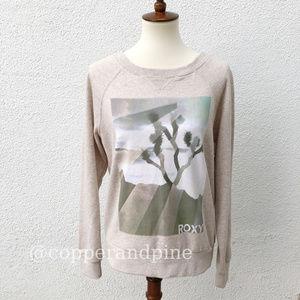 Roxy Cream Joshua Tree Graphic Sweatshirt